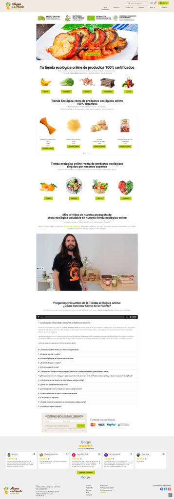 Proyecto Come de la Huerta - Agencia SIMPLE INFORMATICA